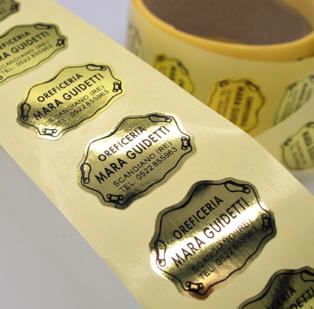 Etichette Adesive stampa tipografica max. cm 6,5 x 6,5. Confezioni da 1000 etichette. Precisare formato e dimensione richiesta.
