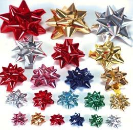 Fiocchi adesivi stella pepita - 2 di 2