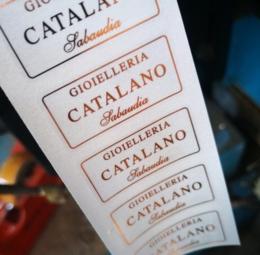 Etichette adesive stampa a caldo - 3di 4