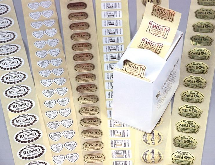 Etichette adesive stampa a caldo - 1 di 4