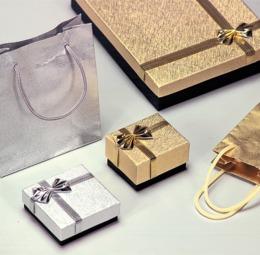 Serie Luna astucci per gioielli con sacchetto coordinato - 2di 2
