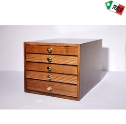 Cassettiera in legno 5 cassetti - 1di 11