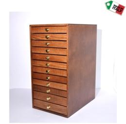 Cassettiera in legno 12 cassetti - 1 di 11