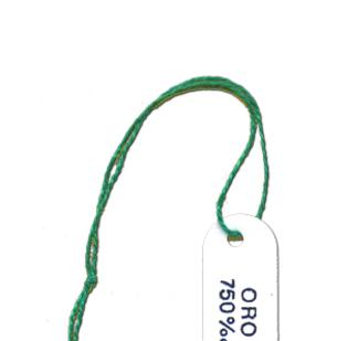 Segnaprezzi in cartoncino bianco stampa ORO 750 con filo cotone