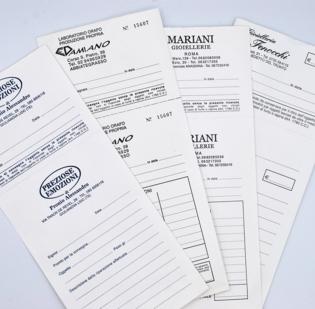Buste per riparazioni formato cm 11 x 25 in carta Kraft Bianca gr 80 con 1 ricevuta staccabile