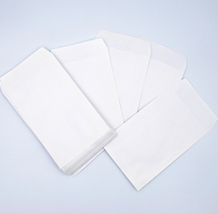 Buste per riparazioni cm 8,5 x 15 anonime in carta Kraft Bianca gr 80