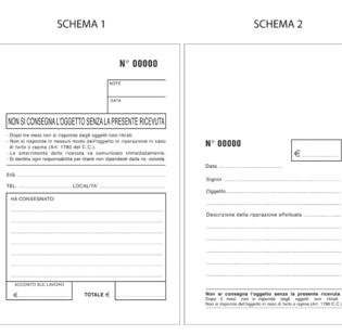 Buste per riparazioni formato cm 10 x 15 con 1 foglietto copiante applicato