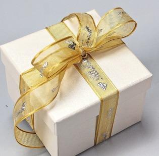 Nastro Organza con cimossa alt. mm 15 stampa a rilievo con lamina oro o argento