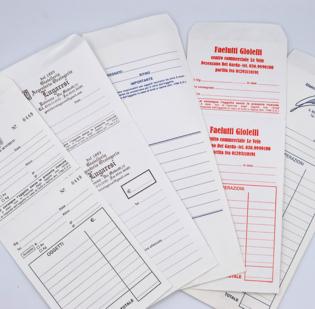 Buste per riparazioni formato cm 9,5 x 23 in carta Kraft Bianca gr 80