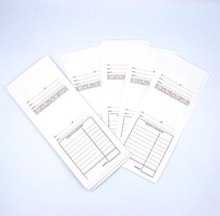 Buste per le riparazioni con schema prestampato in marrone formato cm 9,5 x 23 in carta Kraft Bianca gr 80