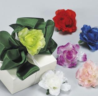 Rose organza medie in conf da 18 fiori (3 mazzi da 6 pz)