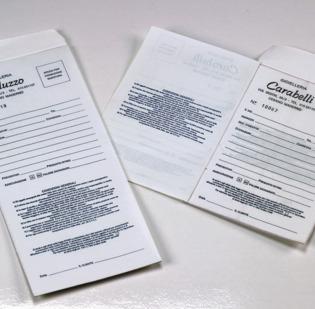 Buste riparazioni personalizzate con fogli autocopianti incollati a 1 o 2 copie - 1 di 1