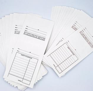 Buste per le riparazioni con schema prestampato non numerate con ricevuta staccabile - 1 di 7