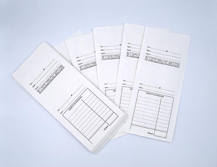 Buste per le riparazioni con schema prestampato non numerate con ricevuta staccabile - 6 di 7