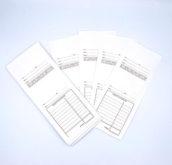 Buste per le riparazioni con schema prestampato non numerate con ricevuta staccabile - 5 di 7