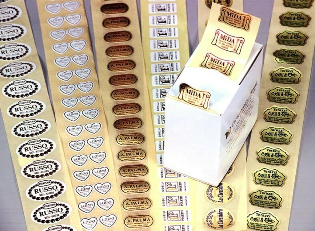 Bollini adesivi chiudipacco| Cartotecnica Bossi